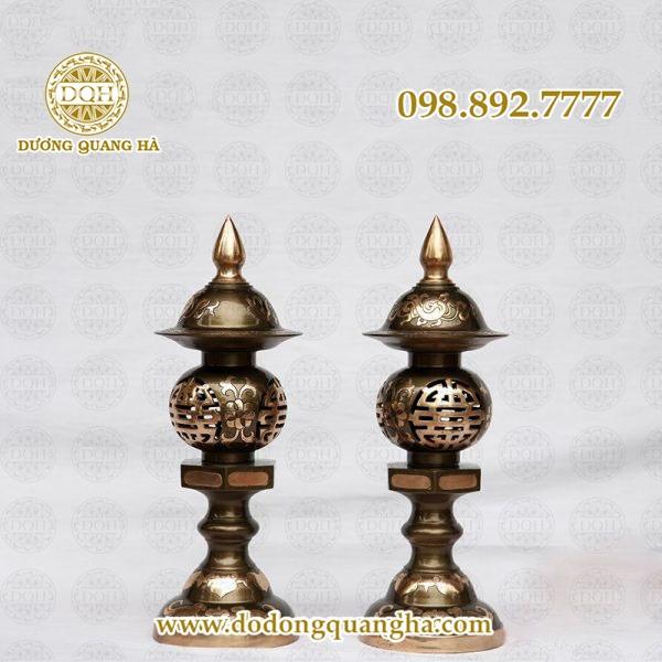 Đèn thờ bằng đồng Dương Quang Hà – Tinh xảo, chất lượng, uy tín