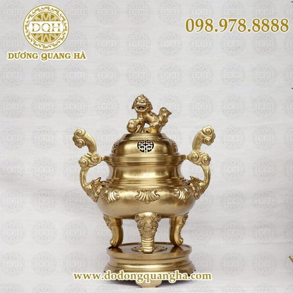 Đỉnh thờ bằng đồng vàng cát tút