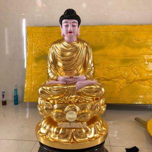 Tôn Tượng Phật Thích Ca bằng đồng dát vàng 9999