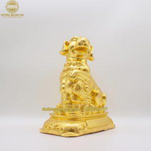 Tượng Chó bằng đồng dát vàng 9999