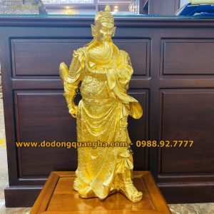 Tượng Đồng Quan Công dát vàng 9999