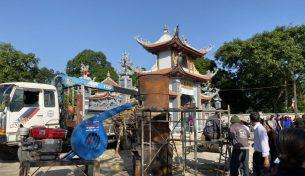 Video cận cảnh đúc Tượng Phật Thích Ca bằng đồng Tại Chùa