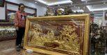 Tranh Đồng Mừng Thọ dát vàng 9999