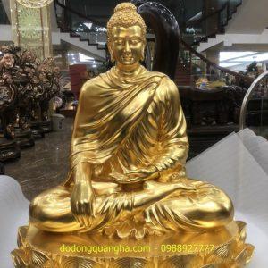 Tượng Phật Thích Ca dát vàng 9999