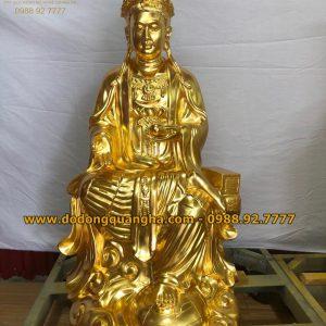 Tượng đồng Địa Mẫu cao 1,07m dát vàng 9999