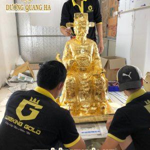 Tượng đồng Thần Hoàng Làng dát vàng 9999 cao cấp