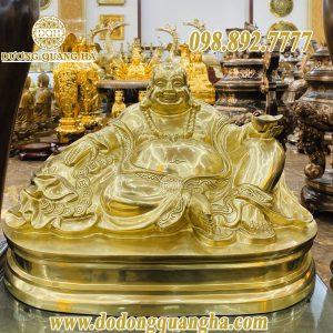 Tượng đồng Phật Di Lặc bằng đồng vàng cát tút
