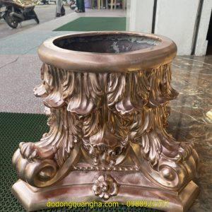 Ốp cột nhà bằng đồng