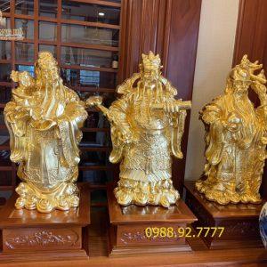 Tượng đồng Tam Đa cao 61cm dát vàng 9999