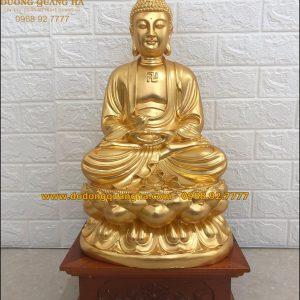 Tượng đồng Phật Thích Ca cao 42cm dát vàng 9999