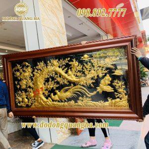Tranh Vinh Hoa Phú Quý bằng đồng dát vàng 9999 cao cấp