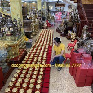 Hoàn thành 400 quả trống đồng đường kính 15cm mạ vàng 24k cho Tỉnh Quảng Ninh