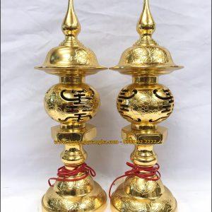 Đèn thờ dát vàng 9999