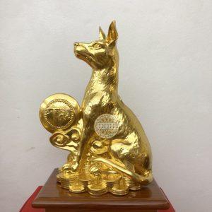 Tượng Chó dát vàng 9999