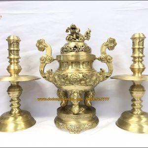 Bộ tam sự đồng vàng rồng nổi
