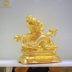 Tượng Rồng dát vàng 9999