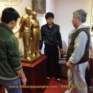 Thi công đúc tượng nhà Tưởng Niệm Nguyễn Chí Thanh