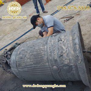 Đúc Chuông – Đại Hồng Chung nặng 1000kg tại chùa Sóc Sơn – Hà Nội