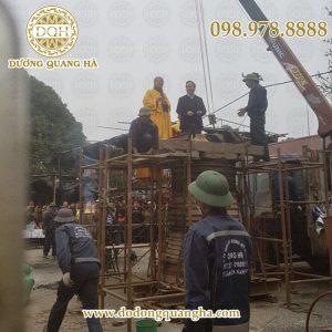 Thi công đúc chuông nặng 1500kg tại Việt Trì, Phú Thọ
