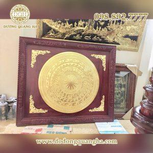 Tranh trống đồng cao cấp dát vàng 9999