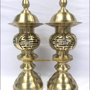 Đèn thờ đồng vàng cát tút