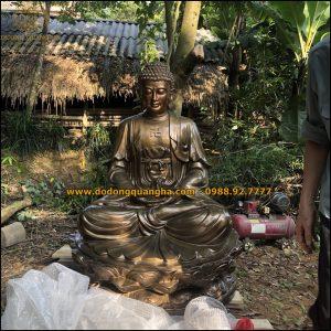 Tượng đồng Phật A DI Đà cao 2,5m
