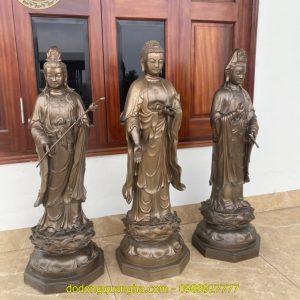 Tượng Đồng Tây Phương Tam Thánh Phật