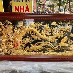 Tranh đồng Vinh Hoa Phú Quý dát vàng 9999 cao cấp