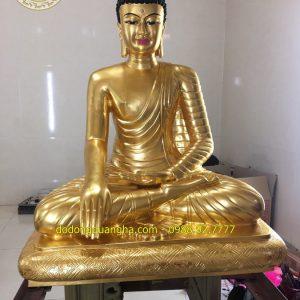 Tượng Phật A Di Đà Mật Tông dát vàng 9999