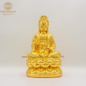 Tượng đồng Phật Bà Quan Âm Bồ Tát cao 21cm