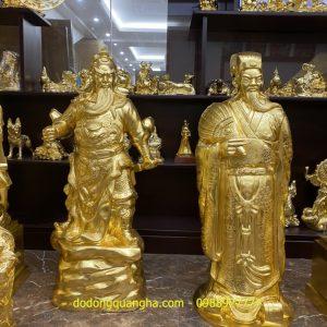 Tượng đồng Quan Vân Trường dát vàng 9999