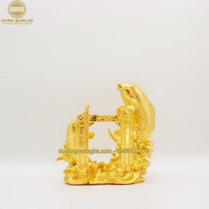 Tượng đồng Cá Chép dát vàng 9999