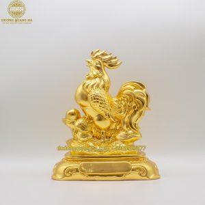 Tượng đồng Gà trống dát vàng 9999