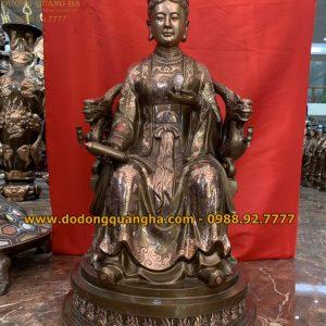 Tượng Đồng Mẫu Cửu Trùng Thiên cao 81cm