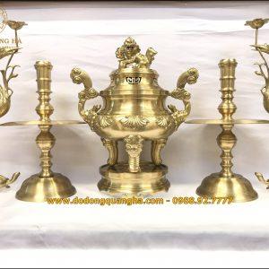 Bộ ngũ sự đồng vàng cát tút cao cấp