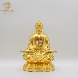 Tượng Phật A Di Đà dát vàng 9999 cao 21cm