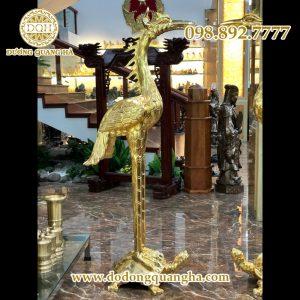 Hạc thờ Thếp Vàng 9999