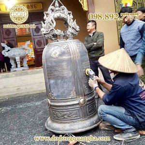 Đúc Đại hồng chung 600 kg tại chùa Nguyệt Hạ – Nam Định