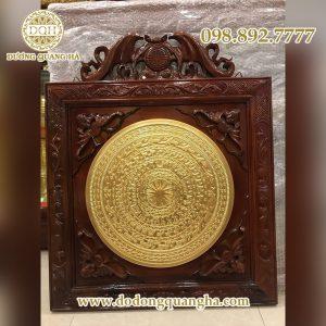 Mặt trống đồng dát vàng 9999 cao cấp