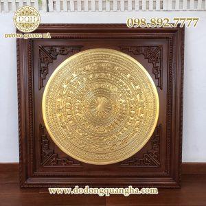 Mặt trống đồng thếp vàng 9999