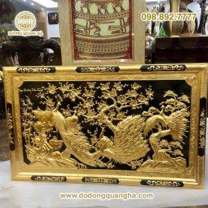 Tranh đồng ngọc đường phú quý dát vàng 9999