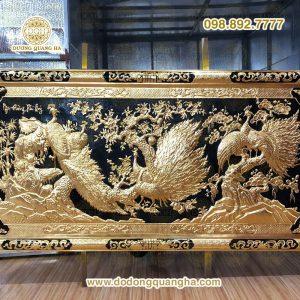 Tranh Ngọc Đường Phú Quý dát vàng 9999