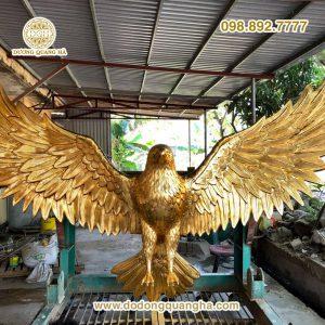 Tượng đồng đại bàng dát vàng 24k