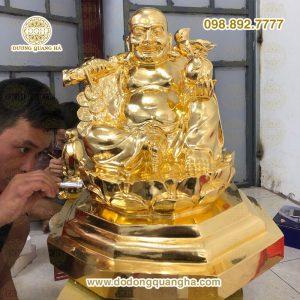 Tượng đồng di lặc dát vàng 9999