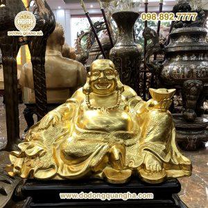 Tượng đồng Phật Di Lặc dát vàng 9999