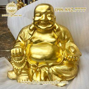 Tượng đồng Phật Di lặc thếp vàng