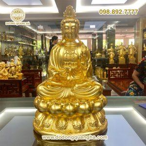 Tượng đồng Phật Thế Chí Bồ Tát dát vàng 9999