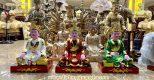 Tượng đồng Tam Toà Thánh Mẫu đẹp tinh xảo của đồ đồng Dương Quang Hà