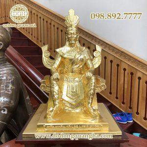 Tượng đồng vua Hùng Vương dát vàng 9999