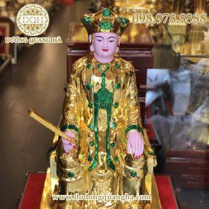 Tượng Mẫu Thượng Ngàn bằng đồng mạ vàng 24k